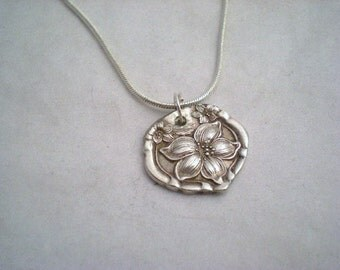 Spoon Pendant, Antique Silverware Jewelry, Wedding Jewelry, Bridesmaid Gifts ORANGE BLOSSOM 1910