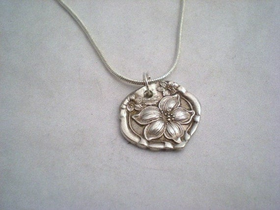 Spoon Pendant, Antique Silverware Jewelry, Wedding Jewelry, Bridesmaid Gifts ORANGE BLOSSOM 1910