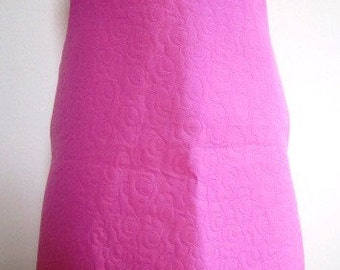 SALE Mod Jumper Pink Toddler Girl Embossed Fabric Handmade A Line  - Size 3T