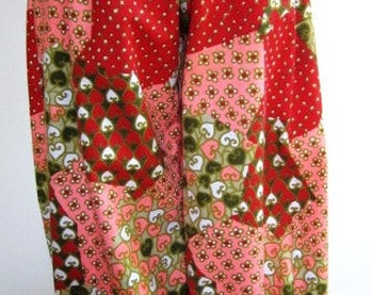 SALE Ladies Ankle Pants Harem Vintage 1970s Patchwork Paisley Print - Size Medium