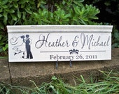 Distressed signs, Personalized Wedding Sign, Bride and Groom Wedding sign, Personalized First Name Sign, Name Sign, Established Sign