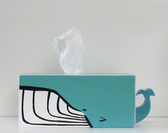 PRE-ORDER: Humpback Whale Tissue Holder - Ships July 30th