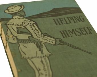 HELPING HIMSELF Vintage Book Notebook Journal