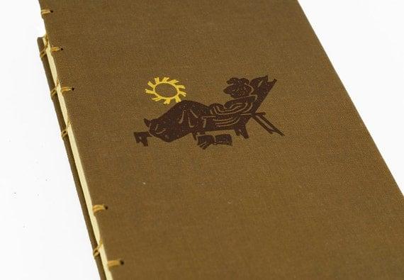 1952 SUNTANNING Vintage Book Journal or Notebook