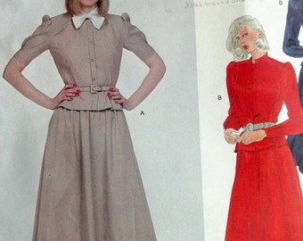 Vintage VOGUE AMERICAN DESIGNER Albert Nipon Secretaty Dress Pattern 2539