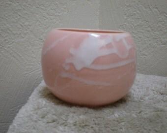 Pink Pottery 50s Mid Century Pink Icing Glazed Mid Century Vintage Eames Era Art Pottery Pot