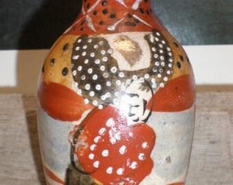 Satsuma Kyoto Earthen Ware Japanese Pottery Vase-Miniature - Rare Asian Antique