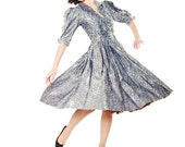 Clearance - Vintage 1970s Party Dress - 70s Cocktail Dress - 50s Style