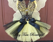 Classy Little Bumblebee Tutu/Hairbow Set:  Newborn-5T