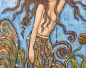 Lorelai - Reserved for Jamie Arnette - 15 x 20 inches - Original Folk Art Painting