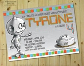 ROBOT RASCALS Invitation - Personalized DIY Printable