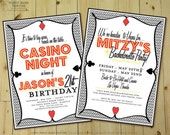 PLAYIN' CARDS Invitation - Personalized DIY Printable Casino and Poker Night or Magic Party Invite