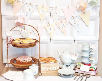 SHABBY CHIC Collection - Printable DIY Party Decorations