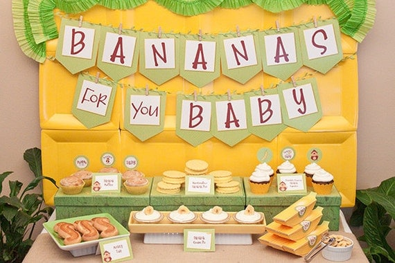 MONKEYING AROUND Baby Shower Collection - Printable Décor
