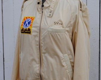 Vintage 1980's Racer Jacket with Retro Kiwanis Patch