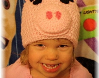 Pig Hat (Crochet Pattern) - Welcome to sell finished hat