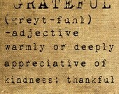 INSTANT DOWNLOAD Grateful Dictionary Definition in Old Typewriter Font - Image Transfer - Digital Sheet by Room29 - Sheet no. 260