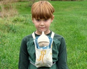 Instant PDF download Small doll front or back carrier papoose sewing tutorial and pattern