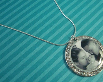 """Photo Pendant with CZ accent """"Twinkle"""""""