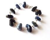 Labradorite Bracelet Blue Gemstone Jewelry Spectrolite Gem Stone Stacking Layering Layered Boho Bohemian Accessories Womens Gift For Her