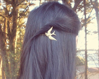 Gold Bird Bobby Pin Hair Clip Hunger Games Mockingjay Boho Bohemian Rustic Woodland Wedding Accessories Womens Gift Vintage Style Spring