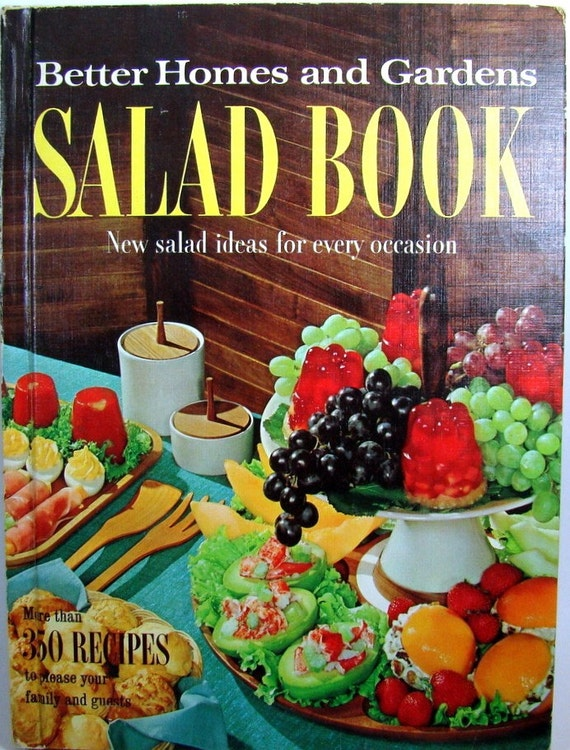 Salad Cookbook, 1966 Better Homes and Gardens Salad Book