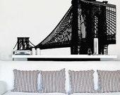 Vinyl Wall Decal Sticker Brooklyn Bridge New York NYC 149-66x115