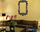 "Vinyl Wall Decal Sticker Frame    KTudor111 Custom 37""x27"" outside dimensions 24""x18"" inner dimensions"