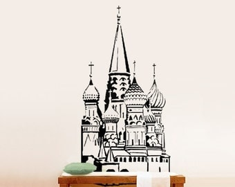 Vinyl Wall Decal Sticker St Basil Cathedral Red Square 218