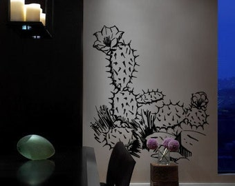 Vinyl Wall Decal Sticker Desert Cactus 236B
