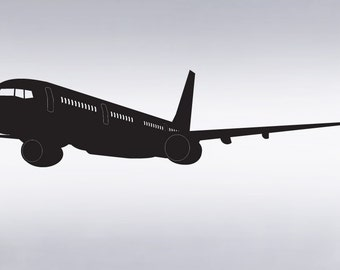 Vinyl Wall Decal Sticker Big Airplane in Flight 6.6ft item 300A