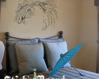 Vinyl Wall Decal Sticker Japanese Koi Fish 367A