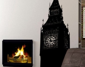 Vinyl Wall Decal Sticker Big Ben Clock Britain U.K. 6ft item 260A