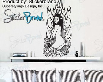 Vinyl Wall Decal Sticker Devil Girl Model 21x48