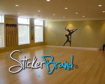 Vinyl Wall Art Decal Sticker Duel Ballerinas 474