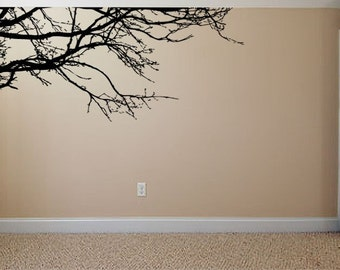 Vinyl Wall Decal Sticker Tree Top Branches  84in W X 36in H  item 444-84x36