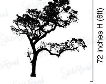 Vinyl Wall Decal Sticker Big Oak Tree 6ft Tall item 409A