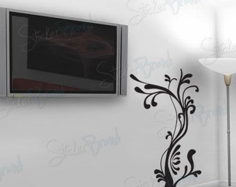 Vinyl Wall Decal Sticker Wavy Tree 700
