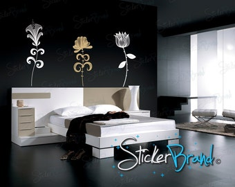 Vinyl Wall Decal Sticker Flower Set 733