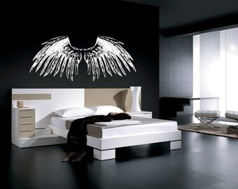 Vinyl Wall Decal Sticker Large Angel Wings 758