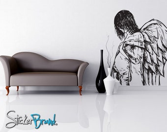 Vinyl Wall Decal Sticker Angels and Demons Drawing 773s
