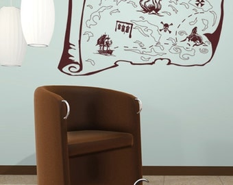 Vinyl Wall Decal Sticker Pirate Treasure Map  GFoster145s