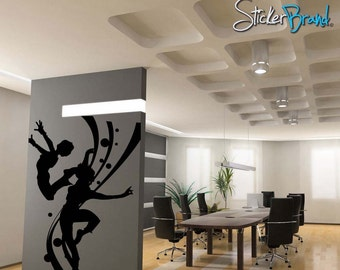 Vinyl Wall Decal Sticker Woman Dancing 60inX48in item OSMG143s