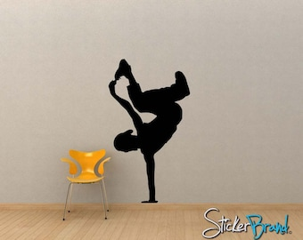 Vinyl Wall Decal Sticker Break Dancer 60inX34in item OSMG138A-60x34