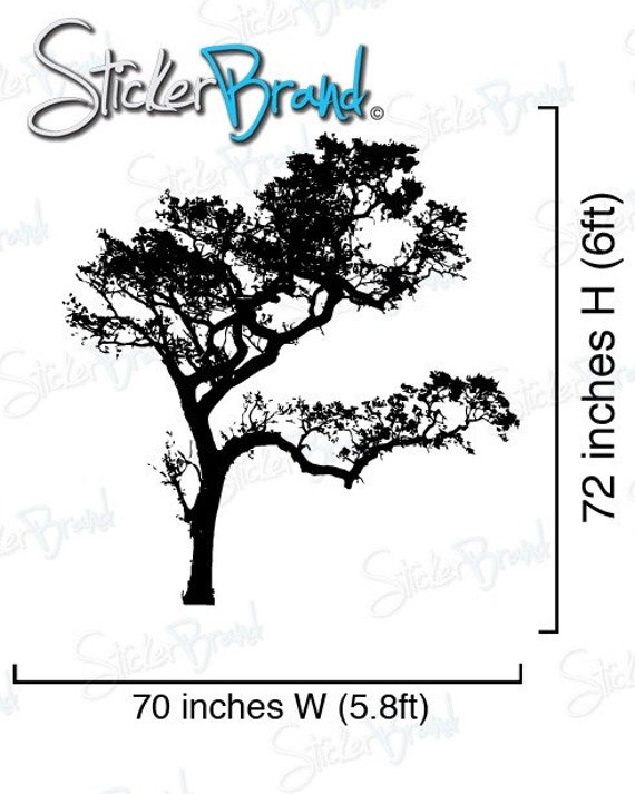 Vinyl Wall Decal Sticker Big Oak Tree 6ft Tall item 409A