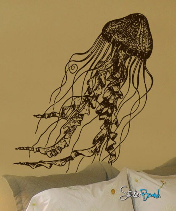 Vinyl Wall Decal Sticker JellyFish Deep Sea Ocean item 364S