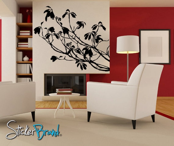 Vinyl Wall Decal Sticker Tree Branches Leaves  AC138s