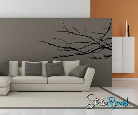 Vinyl Wall Decal Sticker Knobby Plant Tree Branches    AC143m