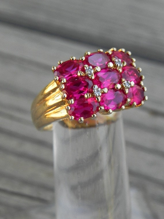 Sterling Gold Vermeil Ruby Ring