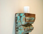 Vintage Wooden Corbel recreated into hanging Wall Candle